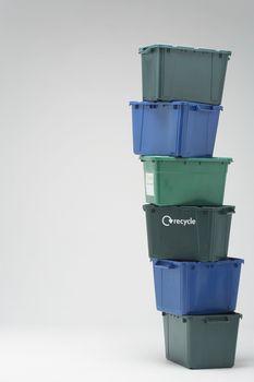 Stack Of Plastic Crates
