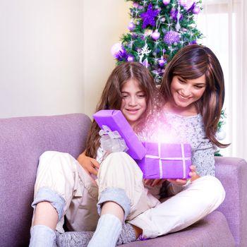 Opening Christmas present