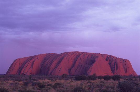 Australia Uluru at dusk