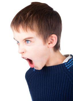 Boy screaming