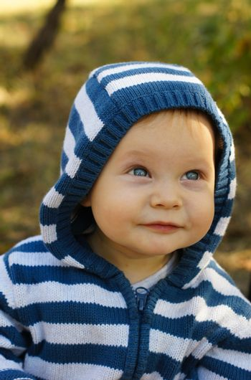 Little baby boy with blue eyes  portrait