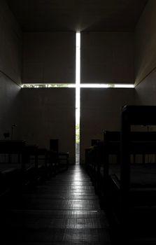 Ibaraki Kasugaoka Church's main chapel.