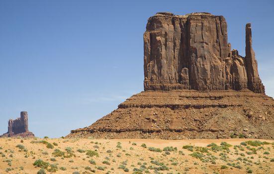 USA Arizona Mitten Butte at Monument Valley