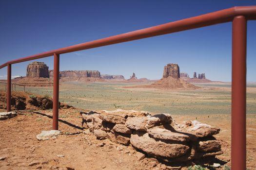USA Arizona railing in Monument Valley
