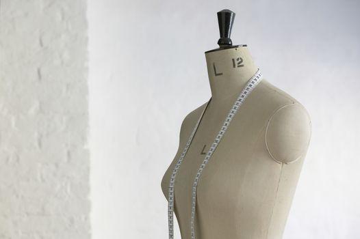 Mannequin indoors close up