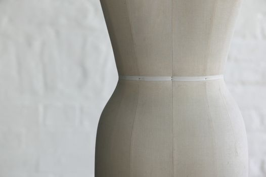 Mannequin indoors close up mid section