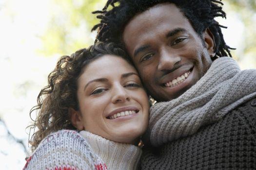 Couple cheek to cheek close-up