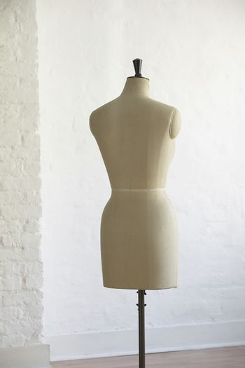 Mannequin indoors back view