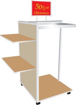 Shop shelves clearance