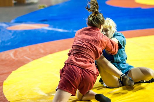 Sambo or Self-defense without weapons. Competitions girls