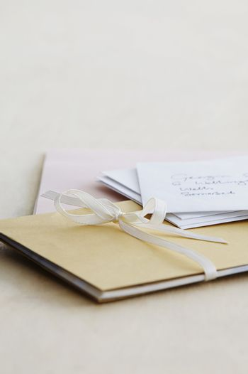 Letters and paper stationery studio shot
