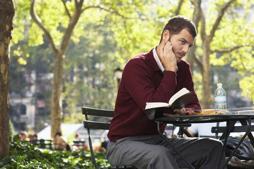 Man relaxing in park