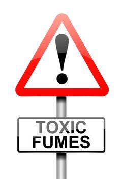Toxic fumes concept.