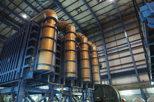 Desalination plant of oil fired power station