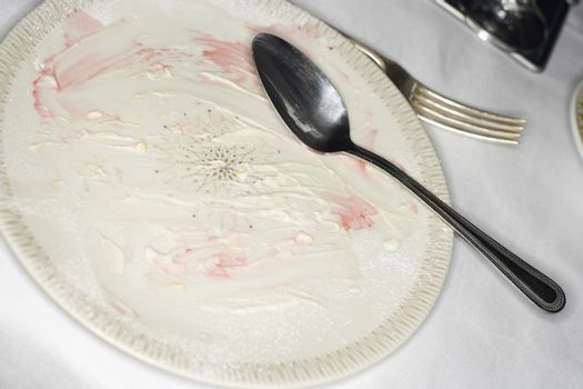 Dirty Plate and Silverware