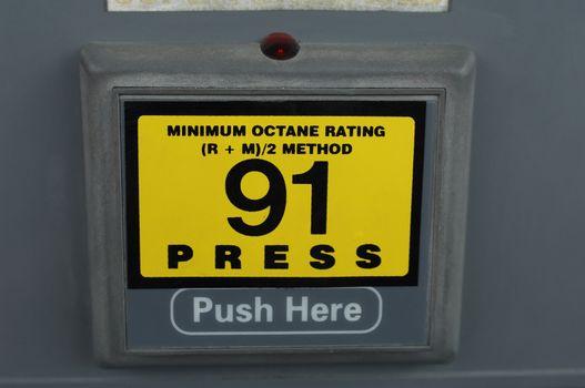 Closeup of a petrol pump machine