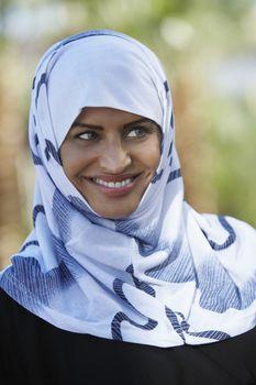 Young Muslim woman wearing headscarf