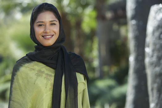 Portrait of young muslim woman