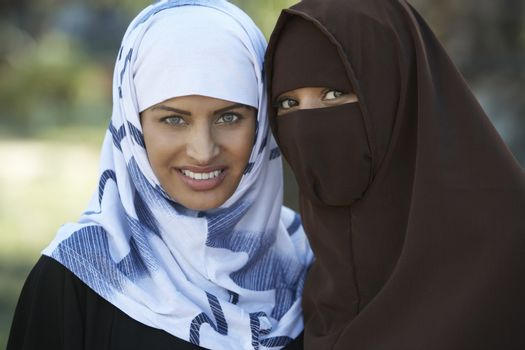 Portrait of two muslim women