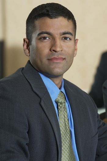 Portrait of a handsome businessman in suit