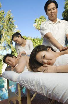 Couple Having A Body Massage
