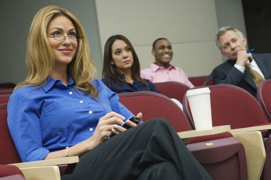 Group of business colleagues during a seminar