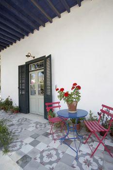 Cyprus veranda of antique Mediterranean house
