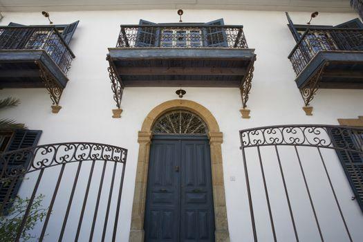 Cyprus Facade of antique town house