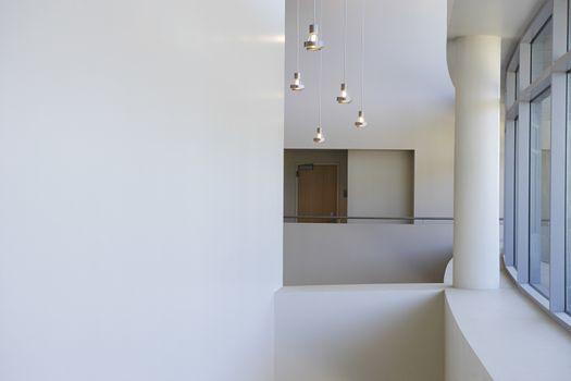 Interior of college corridor and pillar