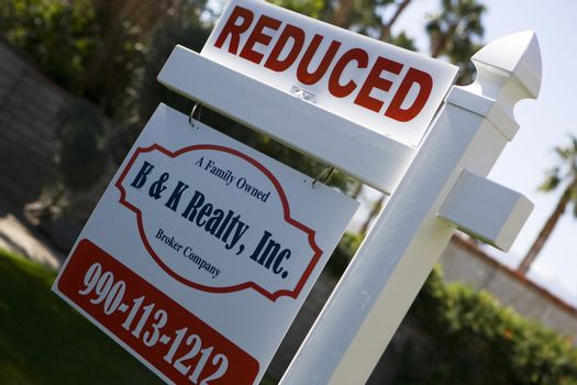 Real Estate Sign Advertising Reduced Price