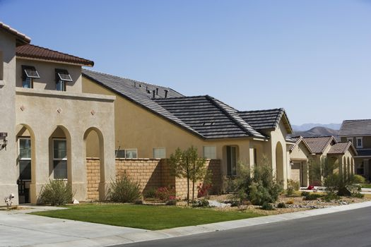 Large New House With Arched Entry