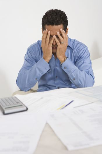Man anxious over his personal finances