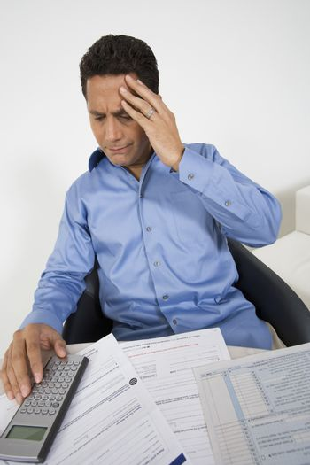 Man with Financial Headache