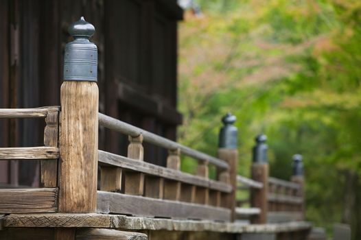 Japan Kyoto Ninna-ji Temple architectural detail close-up