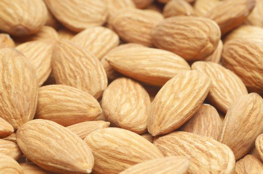 Closeup of healthy almonds