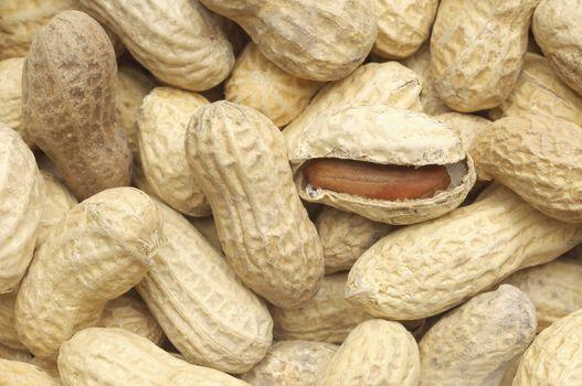 Heap of peanuts