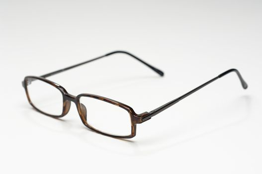 Simple spectacles isolated on white background