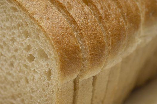 Detail of sliced breads