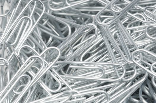 Detail of steel paperclips
