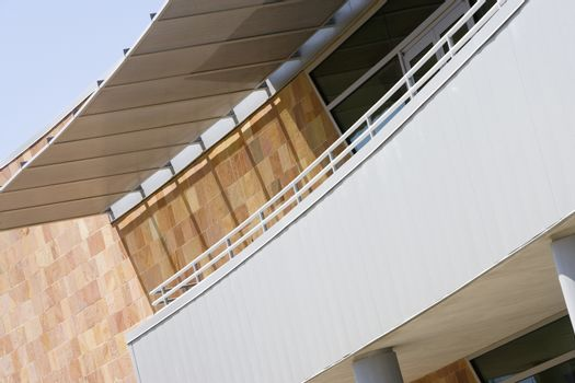 Low angle view of a commercial building