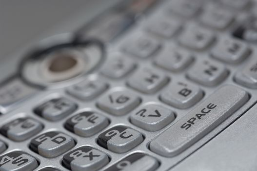 Closeup of push buttons on cell phone