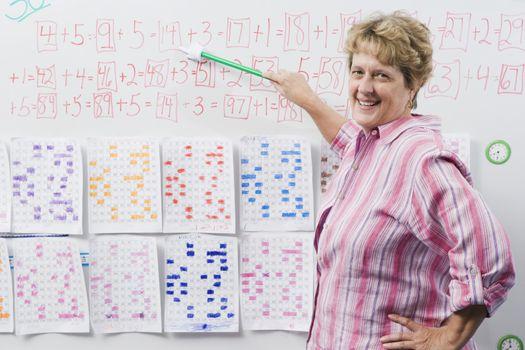 Elementary Teacher Teaching Arithmetic