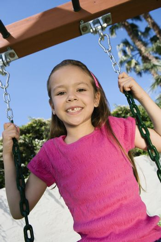 Little Girl Swinging