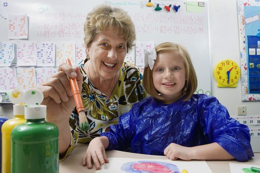 Teacher and Student Painting