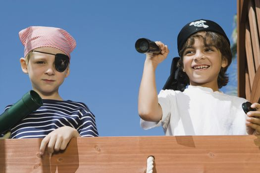 Little Boys Playing Pirate