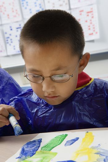 Elementary Student Painting