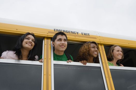 High School Students on a Bus