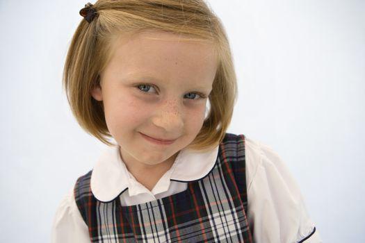 Girl Wearing School Uniform