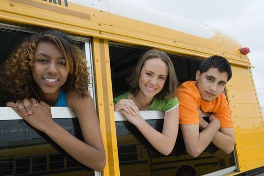 Teenagers on School Bus