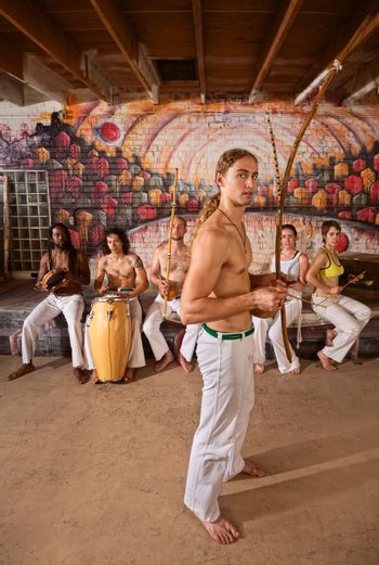 Capoeira Performers Together